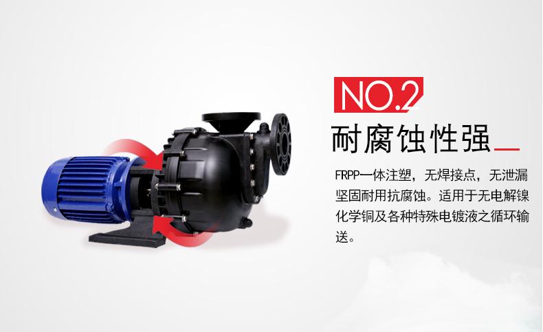 自吸式耐酸碱泵的泵体材质配置
