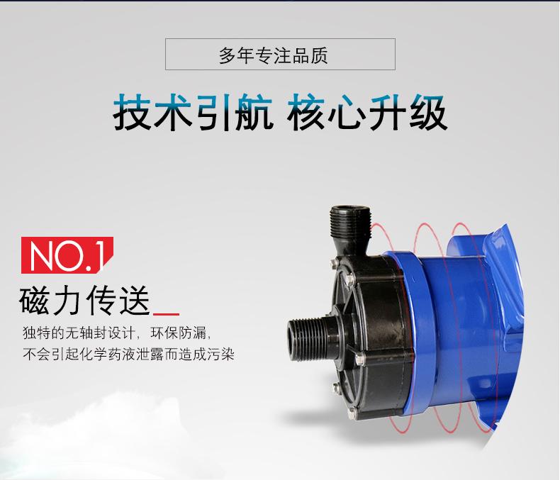 小型磁力循环泵特点说明