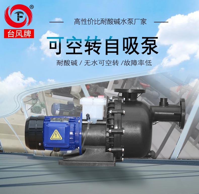 耐酸碱可空转自吸泵