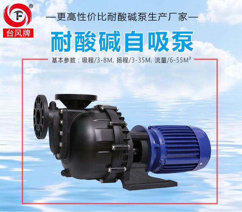 塑料防腐蚀自吸泵产品图片和基本性能。