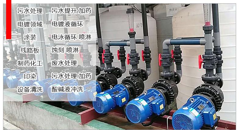 耐酸碱自吸泵的常用工艺展示图