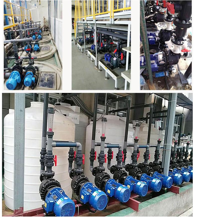 塑料防腐自吸泵各个工况的安装图一备一用。