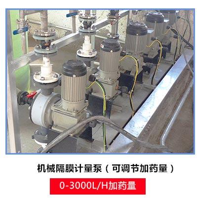 污水处理加药系统中使用的机械隔膜加药泵