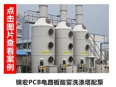 pcb线路板酸雾洗涤塔配套泵