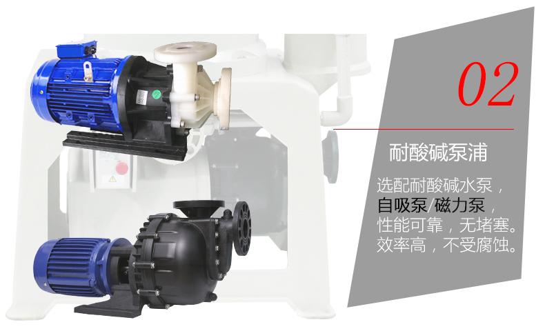化学药液过滤机的水泵配置
